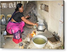 A Villager Woman Acrylic Print by Ashley Cooper
