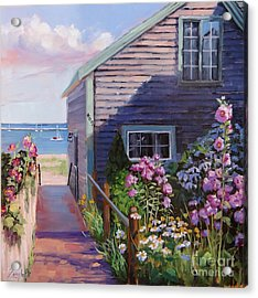 A Visit To P Town Two Acrylic Print by Laura Lee Zanghetti