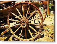 A Wagon Wheel Acrylic Print by Jeff Swan