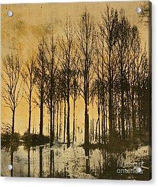 A Walk In France- Lithograph Acrylic Print by Deborah Talbot - Kostisin