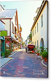 A Walk In St Augustine Acrylic Print by Michelle Wiarda