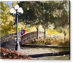 A Walk In The Park Acrylic Print by Sam Sidders