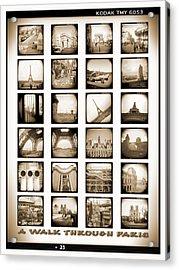 A Walk Through Paris Acrylic Print by Mike McGlothlen