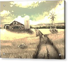 A Warm Welcome Antique Acrylic Print by Shana Rowe Jackson