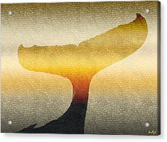 A Whales Tale Acrylic Print by Holly Kempe