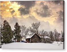 A Winter Sky Acrylic Print by Steve Harrington