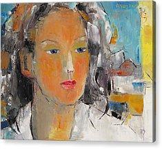 A Woman Acrylic Print by Becky Kim