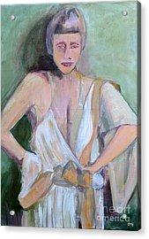 A Woman In Love Acrylic Print by Diane montana Jansson