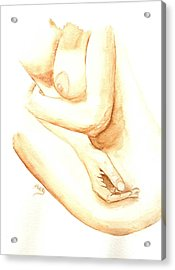 A Woman's Touch Acrylic Print by Donna Blackhall