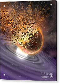 A World Ripped Apart Acrylic Print by Lynette Cook