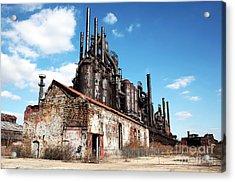 Abandoned Bethlehem Steel Acrylic Print by John Rizzuto