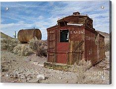 Abandoned Caboose Acrylic Print by Juli Scalzi