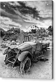 Abandoned Car Acrylic Print by Alexis Birkill