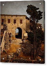 Abandoned Castle Acrylic Print by Christo Christov