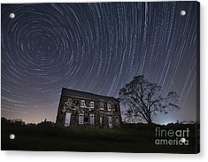 Abandoned History Star Trails Acrylic Print by Michael Ver Sprill