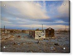 Abandoned Home Salton Sea Acrylic Print by Hugh Smith