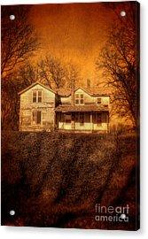 Abandoned House Sunset Acrylic Print by Jill Battaglia