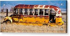 Abandoned Metro Bus - Rural Utah Acrylic Print by Gary Whitton