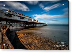 Abandoned Pier Acrylic Print by Adrian Evans