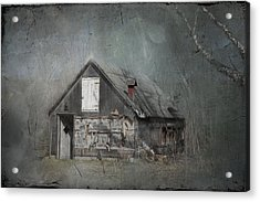 Abandoned Shack On Sugar Island Michigan Acrylic Print by Evie Carrier