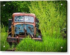 Abandoned Truck In Rural Michigan Acrylic Print by Adam Romanowicz