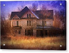 Abandonment At Nightfall Acrylic Print by Georgiana Romanovna