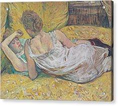 Abandonment Acrylic Print by Henri de Toulouse-Lautrec