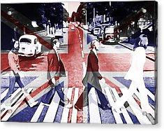 Abbey Road Union Jack Acrylic Print by Dan Sproul