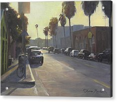 Abbot Kinney Sunset Acrylic Print by Anna Rose Bain