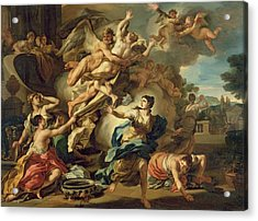 Abduction Of Orithyia Acrylic Print by Francesco Solimen