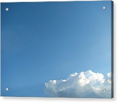 About A Cloud Acrylic Print by Wendy J St Christopher