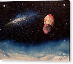Above Alien Clouds Acrylic Print by Murphy Elliott