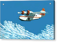 Above It All  The Grumman Goose Acrylic Print by Gary Giacomelli
