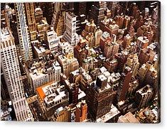 Above New York City Acrylic Print by Vivienne Gucwa