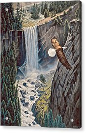 Above The Falls - Vernal Falls Acrylic Print by Paul Krapf
