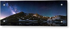 Above The Rocky Mountain High Acrylic Print by Adam Pender