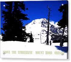 Above The Timberline  Mt Hood  Oregon Acrylic Print by Glenna McRae
