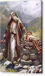 Abraham And Isaac Acrylic Print by Harold Copping