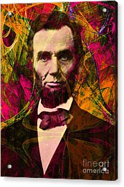 Abraham Lincoln 2014020502 Acrylic Print by Wingsdomain Art and Photography