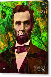Abraham Lincoln 2014020502p68 Acrylic Print by Wingsdomain Art and Photography