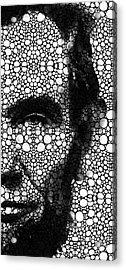 Abraham Lincoln - An American President Stone Rock'd Art Print Acrylic Print by Sharon Cummings