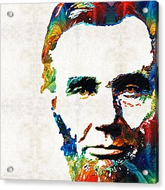 Abraham Lincoln Art - Colorful Abe - By Sharon Cummings Acrylic Print by Sharon Cummings