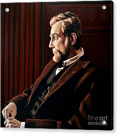 Abraham Lincoln By Daniel Day-lewis Acrylic Print by Paul Meijering
