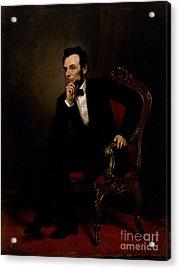Abraham Lincoln Acrylic Print by GPA Healy