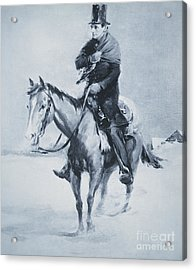 Abraham Lincoln Riding His Judicial Circuit Acrylic Print by Louis Bonhajo
