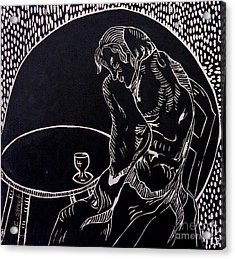 Absinthe Drinker After Picasso Acrylic Print by Caroline Street