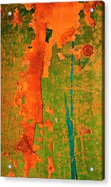 Absrtract - Rust And Metal Series Acrylic Print by Mark Weaver