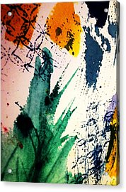 Abstract - Splashes Of Color Acrylic Print by Ellen Levinson