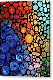 Abstract 1 - Colorful Mosaic Art - Sharon Cummings Acrylic Print by Sharon Cummings