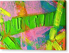 abstract 6814 Diptych Cropped XIV Acrylic Print by John  Nolan